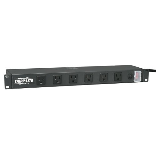 Tripp Lite RS1215-RA Power Strip Rackmount Metal 120V 5-15R Right Angle 12 Outlet 1UB00006B835