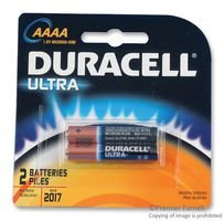 Duracell MX2500B2PK Photo Batteries, Size AAAA (2 Batteries)