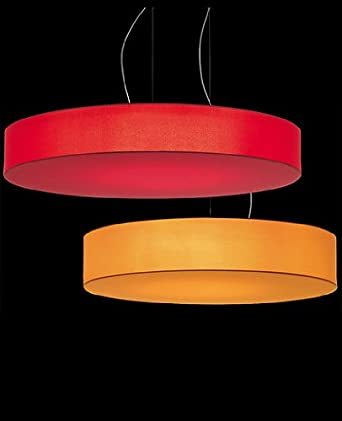 Discovolante pendant light - large, sand, -----------, Ecopelle, 110 - 125V (for use in the U.S., Canada etc.)