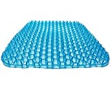 SESEAT Gel Seat Cushion Soft Breathable with Non Slip Cover for Chair Office Car Wheelchair Gel Cushion Seat Pad (Color: Blue)