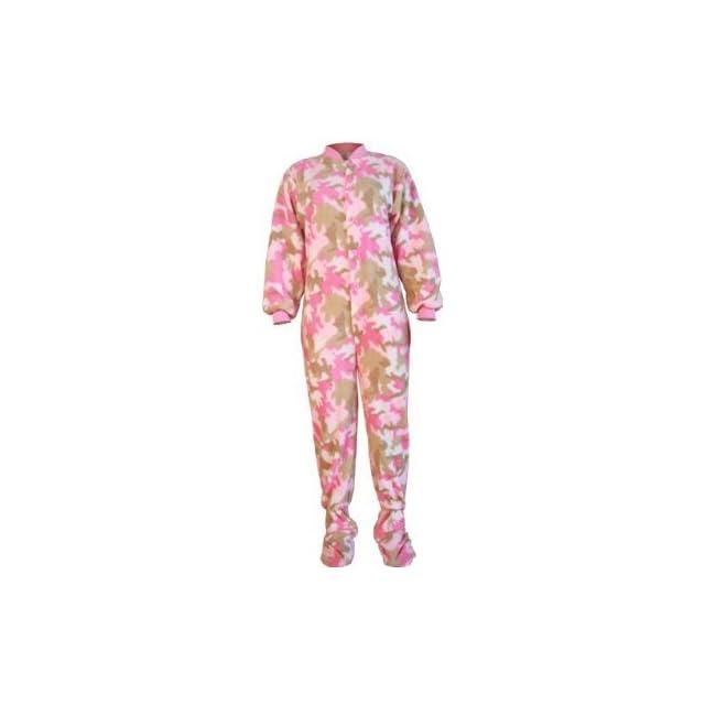 33fe355c837e Big Feet Pjs Pink Camo Micro polar Fleece Adult Onesie Footed ...