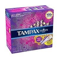 Radiant plastic Super absorbency unscented tampons
