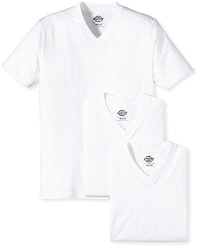 Dickies - V Neck T-Shirt Pk, Maglia a maniche lunghe Uomo, Bianco (White), Medium (Taglia Produttore: Medium)