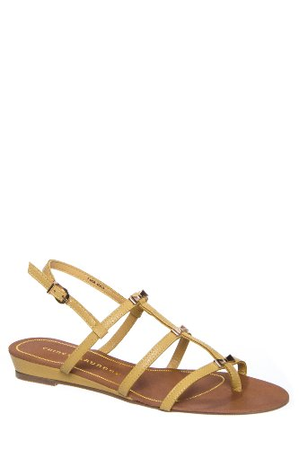 Chinese Laundry Carefree Low Wedge Ankle Strap Thong Sandal