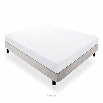 LUCID 10 Inch Memory Foam Mattress - Dual-Layered - CertiPUR-US Certified
