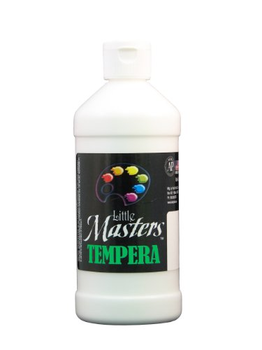 Little Masters 201705 Tempera Paint, White, 16 oz  (LIM201705)