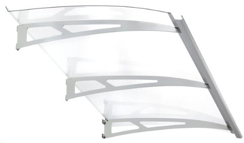 Exclusive Line 1800 Wide Polycarbonate Door Canopy (Silver)