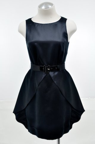 Alice and Olivia Black Fortune Cookie Silk Dress