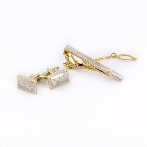 set boutons de manchette pince cravate pour homme avec bo te cadeau or 5 bijouterie carr or. Black Bedroom Furniture Sets. Home Design Ideas