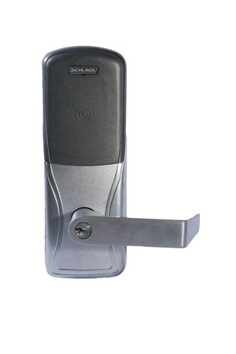 Schlage Electronics Ad-400 Series Networked Wireless Electronic Lockset, Multi-Technology Reader, Cylindrical Lock, Schlage Cylinder Keyway, Rhodes Lever, Satin Chrome Finish, For Classroom Or Storeroom Use