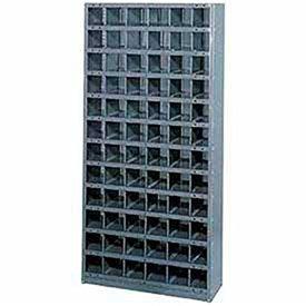 Steel Storage Bin Cabinet 36x12x39, 36 Compartments