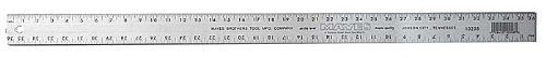 Mayes 10208 Straight Edge Aluminum Ruler, 36-Inch