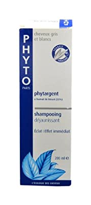 Phyto Phytargent Whitening Shampoo for Unisex, 6.7 Ounce