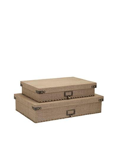 Set of 2 Corbin Document Boxes
