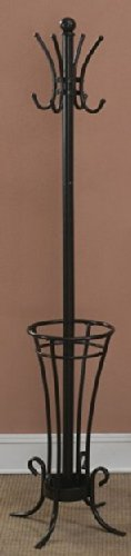 Iron Tube Coat Rack with Umbrella Holder by Poundex