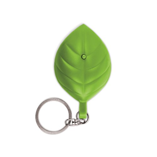 Kikkerland Fl26 Leaf Solar Flashlight And Keychain