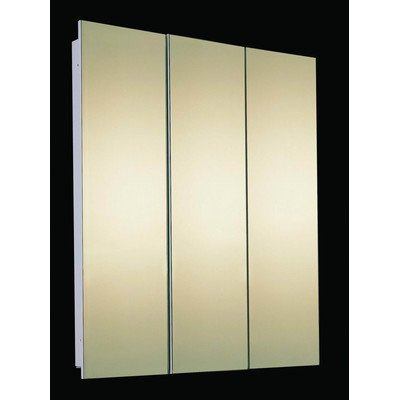 "Tri-View 36"" x 36"" Recessed Beveled Edge Medicine Cabinet"