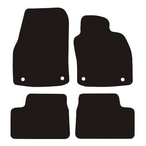 VAUXHALL ASTRA H RUBBER CAR MATS 2004-2009 (4 ROUND CLIPS)