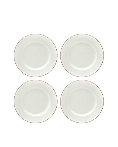 Prima Designs Set of 4 Painted Band Dinner Plates, Multi
