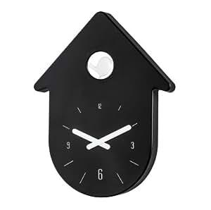 Koziol pendule coucou design noir koziol toc toc amazon for Maison classique emporium