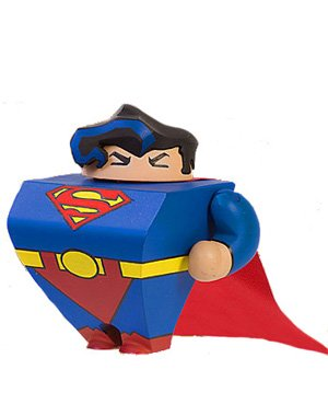 Picture of DC Comics Blammoids Series 2 Mini Figure Superman (B003IK33Y4) (Superman Action Figures)