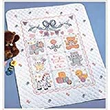 Bucilla 40787 Babies Are Precious Stamped Cross Stitch Kit, 34-Inch by 43-Inch image