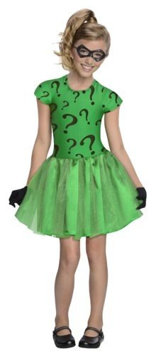 DC Super Villain Collection Riddler Girl's Costume with Tutu Dress