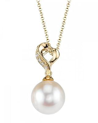 18K Gold Akoya Pearl & Diamond Melissa Pendant