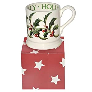Emma Bridgewater Holly 1 2 Pint Christmas Mug