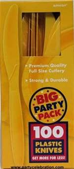 BIG PACK YELLOW SUNSHINE KNIVES 100 COUNT