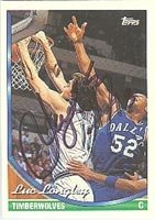 Luc Longley Minnesota Timberwolves 1994 Topps Autographed Hand Signed Trading Card -... by Hall+of+Fame+Memorabilia