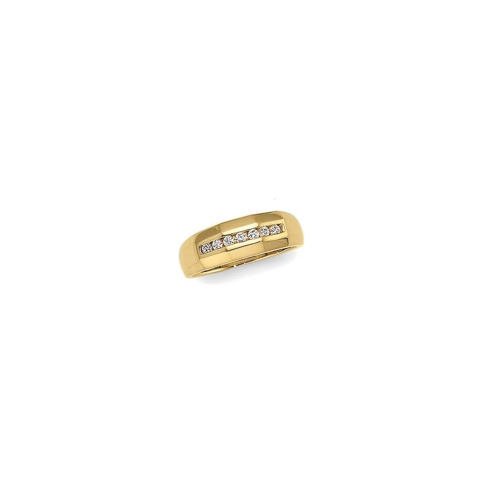 14K Yellow Gold Diamond Wedding Band Ring Size 10