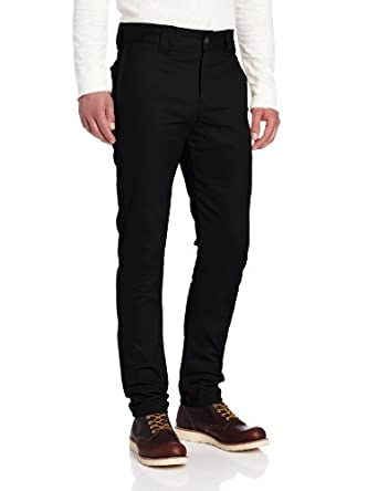 Dickies Men's Slim Skinny Fit Work Pant, Black, 26x32