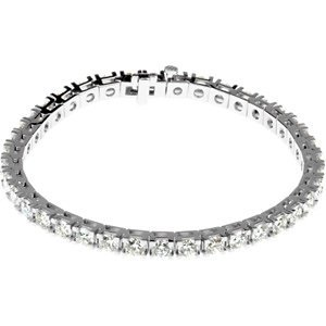 Genuine IceCarats Designer Jewelry Gift 18K White Gold Diamond Tennis Bracelet