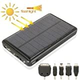 5000mAh Mobile Phone Emergency Power Station With Solar Charger LED Flash Light For Samsung / Nokia Lumia / Sony...