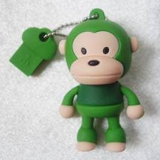 4GB Baby Monkey USB 2.0 High Speed Silicon Flash Memory Drive Disk Stick Pen Support Windows and MacOS Great Gift (4GB GREEN) by EASYWORLD