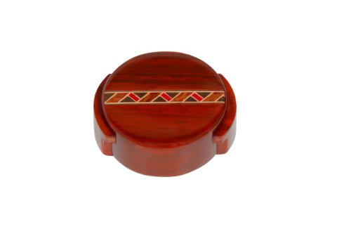 Vinostrumenti Padauk Wood With Single Marquetry Spring Action Wine Bottle Foil Cutter front-299564