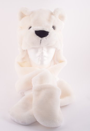 Polar Bear Full Hood Animal Hat