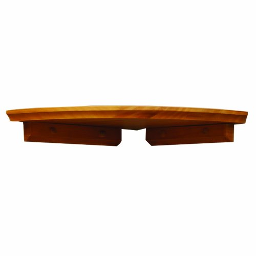 InPlace Shelving 0199010 Corner Shelf Kit, 10-Inch by 10-Inch, Honey Oak