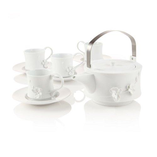 Teavana White Orchid Teapot Set