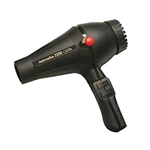 Turbo Power 3200 Twin Turbo Hair Dryer, Black, 36.8 Ounce