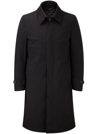 Austin Reed Black Long Raincoat REGULAR MENS 40