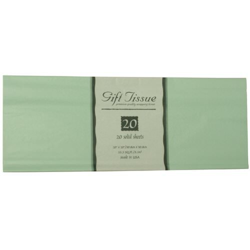 JAM Paper® Tissue Paper - Mint Green - 20 sheets per pack