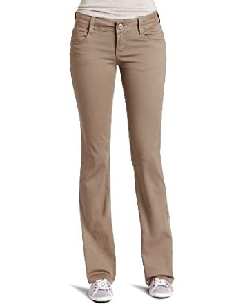Southpole Juniors Basic Uniform Bootcut Pant, Khaki, 3