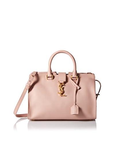 Saint Laurent Women's Small Monogram Cabas Bag, Pale Blush