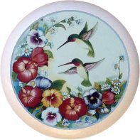 Ceramic Knob - Hummingbird #7451 -