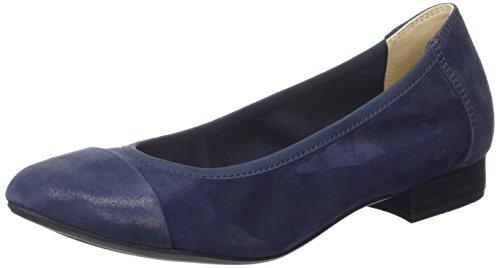 Caprice22159 - Ballerine Donna , Blu (Blau (OCEAN SUEDE 857)), 38.5
