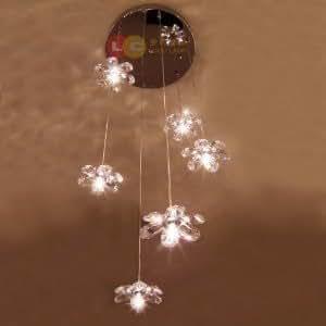 Loco lampadario con luci pendenti e paralumi in - Lampadario classico camera da letto ...