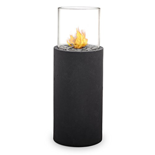Real Flame 870-BS Modesto Fire Column, Black Slate