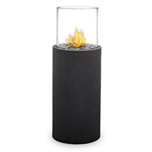 Real Flame 870-BS Modesto Fire Column, Black Slate